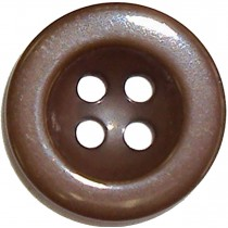 10 Boutons marrons nylon en 15, 18 mm