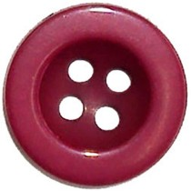 10 Boutons rouges bordeaux nylon en 15, 18 mm
