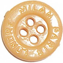 10 Boutons marrons Paris-Londre-Milan en 15, 18 mm