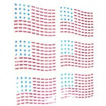 6 transferts clou drapeau USA