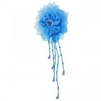 Broche pendante fleur bleue