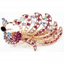 Barrette PAON rose
