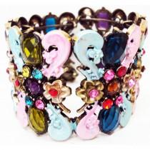 Bracelet manchette multicolore 4,5 cm