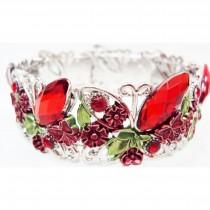 Bracelet manchette rouge 2 cm