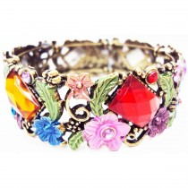 Bracelet cristal rectangle multicolore