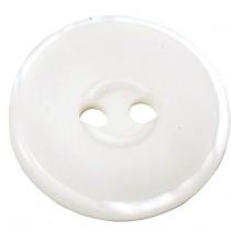 10 Boutons blancs en 22, 25, 33 mm