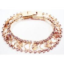 Bracelet plaqué or cristal  - pièce unique-