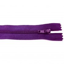 10 Fermetures éclairs NYLON en 20 cm -  Violet
