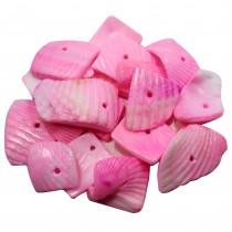 20 perles de coquillage - rose