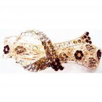 Barrette noeud marron
