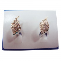 Boucles d'oreilles cristal plaqué argent