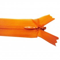 10 Fermetures invisibles NYLON en 20, 35, 50 cm - Orange