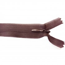 10 Fermetures invisibles NYLON en 20, 35, 50 cm - Marron
