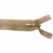 10 Fermetures invisibles NYLON en 20 cm - Taupe