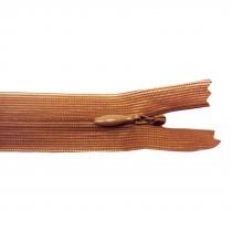10 Fermetures invisibles NYLON en 20 cm - Acajou