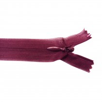10 Fermetures invisibles NYLON en 22, 35, 50 cm - Lie de vin