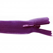 10 Fermetures invisibles NYLON en 35, 50 cm - Violet