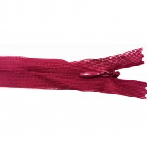 10 Fermetures invisibles NYLON en 15 cm - Rouge bordeaux