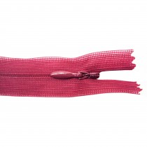 10 Fermetures invisibles NYLON en 35 cm - Bordeau clair