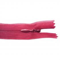 10 Fermetures invisibles NYLON en 35 cm - Bordeau clair