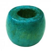 25 perles de bois turquoises