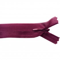 10 Fermetures invisibles NYLON en 20 cm - Bordeaux