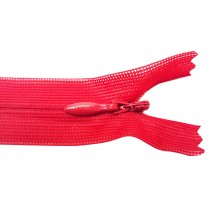 10 Fermetures invisibles NYLON en 20, 50 cm - Rouge