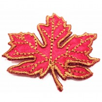 Patch écusson feuille d'érable - Marron