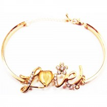 Bracelet plaqué or LOVE