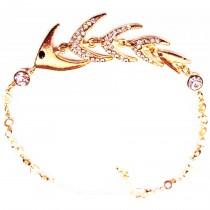 Bracelet plaqué or poisson