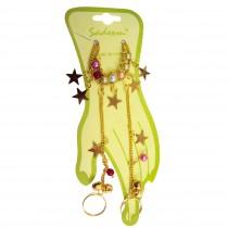 Bracelet-bague étoile - Multicolore