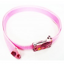 Ceinture sangle rose
