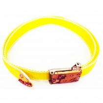 Ceinture sangle jaune fluo