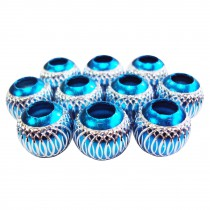 10 perles en aluminium - Turquoise