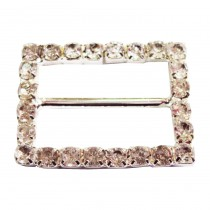 Boucle rectangle à strass 5 PCS