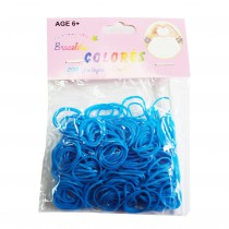 Recharge Loom Bands 200 PCS - Bleu fluo