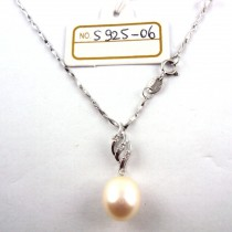 Collier perle de culture S925-06