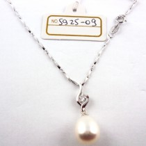 Collier perle de culture S925-09