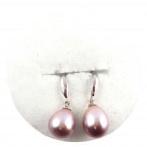 B.O perle de culture pendante S925 - Parme