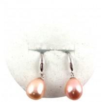 B.O perle de culture pendante S925 - Orange