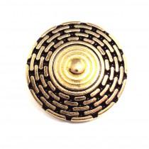 6 Boutons ZINC motif géométrique en 15 mm