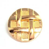 6 Boutons ZINC motif tressé en 15 mm