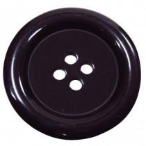8 Boutons noirs en 50 mm