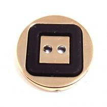 Bouton motif carré en 22 mm- Or