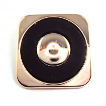 Bouton carré en 18, 22 mm - Doré
