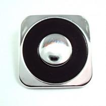 Bouton carré en 18, 22 mm - Argent