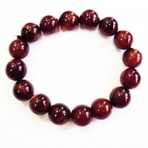 Bracelet agate marron 16 mm