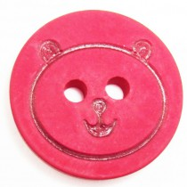 20 Boutons oursons en 12, 18 mm - Rouge