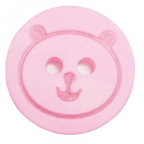 20 Boutons oursons en 12, 18 mm - Rose