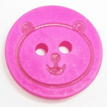 20 Boutons oursons en 12, 18 mm - Fuchsia